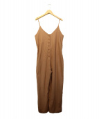 OZMA(オズマ)の古着「シルクネップキャミロンパース」|ブラウン