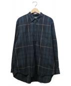FACTOTUM(ファクトタム)の古着「ビッグチェックワイドシャツ」|ネイビー×グレー