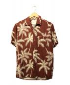 EDIFICE×Reyn Spooner(エディフィス×レインスプーナー)の古着「アロハシャツ」|レッド×ホワイト