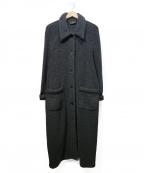 FENDI JEANS(フェンディ ジーンズ)の古着「パイルロングコート」|グレー