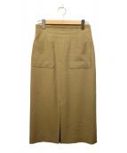 martinique(マルティニーク)の古着「ブッチャータイトスカート」|ブラウン
