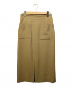martinique()の古着「ブッチャータイトスカート」|ブラウン