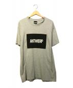 VIER ANTWERP(ヴィーア・アントワープ)の古着「BOXロゴTシャツ」 グレー