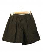 KAPTAIN SUNSHINE(キャプテン サンシャイン)の古着「Athletic Wide Shorts」 ブラック×ブラウン