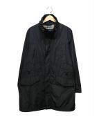 BURBERRY LONDON(バーバリーロンドン)の古着「パッカブルナイロンステンカラーコート」|ブラック