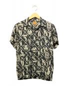 PHERROWS(フェローズ)の古着「アロハシャツ」|ネイビー