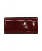 Cartier(カルティエ)の古着「長財布」 レッド