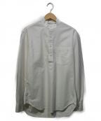 GITMAN BROS(ギットマンブラザーズ)の古着「POバンドカラーシャツ」 ホワイト