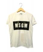 MSGM(エムエスジーエム)の古着「プリントTシャツ」|ホワイト×ブラック