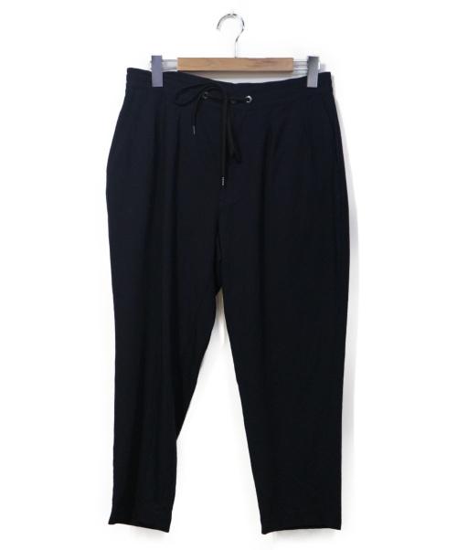 VAINL ARCHIVE(バイナルアーカイブ)VAINL ARCHIVE (バイナルアーカイブ) タックパンツ ネイビー サイズ:Lの古着・服飾アイテム