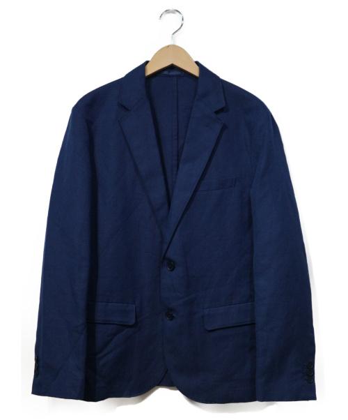 LACOSTE(ラコステ)LACOSTE (ラコステ) リネンコットンジャケット ブルー サイズ:4 参考定価29.000円+税の古着・服飾アイテム