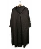 DOLLY SEAN(ドーリーシーン)の古着「ワイドシルエットシャツ」|ブラウン