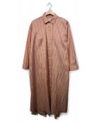TICCA(ティッカ)の古着「フレアシャツワンピース」|ピンク