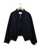 ENFOLD(エンフォルド)の古着「ボンディングジャケット」 ネイビー