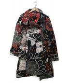 Desigual(デシグアル)の古着「ゴブラン織Aラインコート」|ブラック