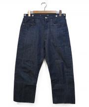 LEVIS VINTAGE CLOTHING(リーバイス ヴィンテージ クロージング)の古着「シンチバック付デニムパンツ」|インディゴ