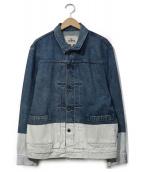 LEVIS MADE&CRAFTED(リーバイス メイドアンドクラフテッド)の古着「ペイント加工デニムジャケット」|インディゴ
