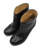 MM6(エムエムシックス)の古着「デザインヒールブーティ」|ブラック