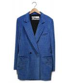 CABANA(カバナ)の古着「DOUBLE 2B JACKET」|ブルー