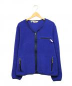 Battenwear(バテンウェア)の古着「フリースカーディガン」 ブルー
