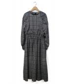 Unaca(アナカ)の古着「ブラウスワンピース」|ホワイト×ブラック