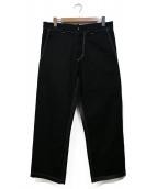 ()の古着「Duck Pants」|ブラック×ホワイト