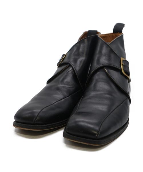 Tricker's(トリッカーズ)Tricker's (トリッカーズ) シングルモンクストラップブーツ ブラック サイズ:8 1/2の古着・服飾アイテム