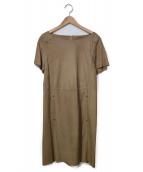 LAUTRE AMONT(ロートレアモン)の古着「スエードワンピース」|ベージュ