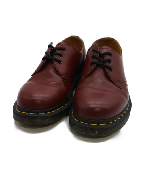 Dr.Martens(ドクターマーチン)Dr.Martens (ドクターマーチン) 3ホールレザーシューズ ボルドー サイズ:UK6の古着・服飾アイテム
