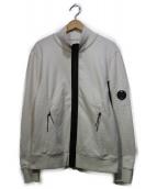 C.P COMPANY(シーピーカンパニ)の古着「スウェットジャケット」|ホワイト×ブラック