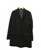 BLUE WORK(ブルーワーク)の古着「ニットメルトンチェスターコート」 ブラック