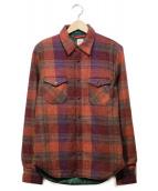 &WORKS(アンドワークス)の古着「シャツジャケット」|レッド