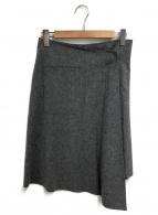 MIHARA YASUHIRO(ミハラヤスヒロ)の古着「メルトンラップスカート」|グレー