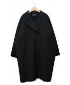 mizuiro-ind(ミズイロインド)の古着「ワイドシルエットロングコート」|ブラック