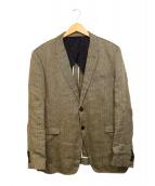 Paul Smith London(ポールスミスロンドン)の古着「リネン混テーラードジャケット」|ベージュ
