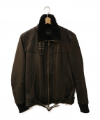 PHIGVEL MAKERS(フィグベルマーカーズ)の古着「レザーボアジャケット」|ブラック