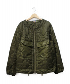 is-ness(イズネス)の古着「COJ QUILTED LINER JACKET」|カーキ