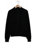 FOXEY(フォクシー)の古着「ニットポロシャツ」|ブラック