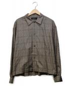 VAINL ARCHIVE(バイナルアーカイブ)の古着「グレンチェックロングスリーブシャツ」|ベージュ