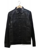 HEDDIE LOVU(エディールーヴ)の古着「コーティングデニムジャケット」|ブラック