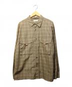 ROTOL(ロトル)の古着「チェックシャツ」 ベージュ