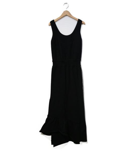LEINWANDE(ラインヴァンド)LEINWANDE (ラインヴァンド) ニットワンピース ブラック サイズ:表記なし ノースリーブワンピースの古着・服飾アイテム