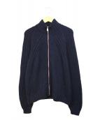 NARA CAMICIE(ナラカミーチェ)の古着「ニットジャケット」|ネイビー