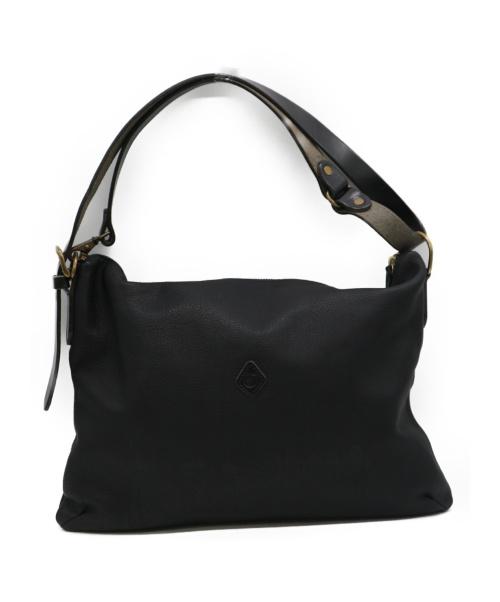 CLEDRAN(クレドラン)CLEDRAN (クレドラン) レザーショルダーバッグ ブラックの古着・服飾アイテム