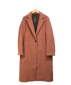 Demi-Luxe BEAMS(デミルクスビームス)の古着「アンゴラ混チェスターコート」 ピンク