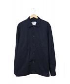 MHL(エムエイチエル)の古着「スナップボタンシャツ」|ネイビー
