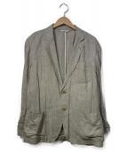 THE NERDYS(ザナーディーズ)の古着「リネンシングルテーラードジャケット」|ベージュ