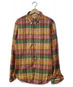 Engineered Garments(エンジニアードガーメン)の古着「マドラスチェックシャツ」|グリーン×イエロー