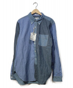Engineered Garments(エンジニアードガーメン)の古着「クレイジーパターンシャツ」|ブルー×グレー