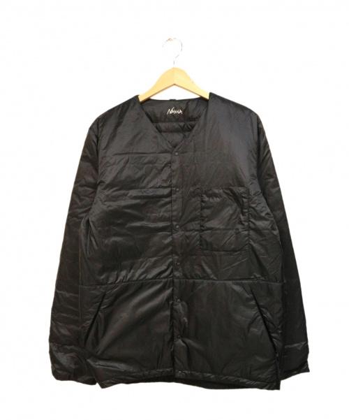 NANGA(ナンガ)NANGA (ナンガ) REVERSIBLE INNER DOWN CARDIGAN ブラック サイズ:Lの古着・服飾アイテム